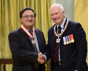Nassif Ghoussoub, O.C. and Governor General of Canada, His Excellency the Right Honourable David Johnston