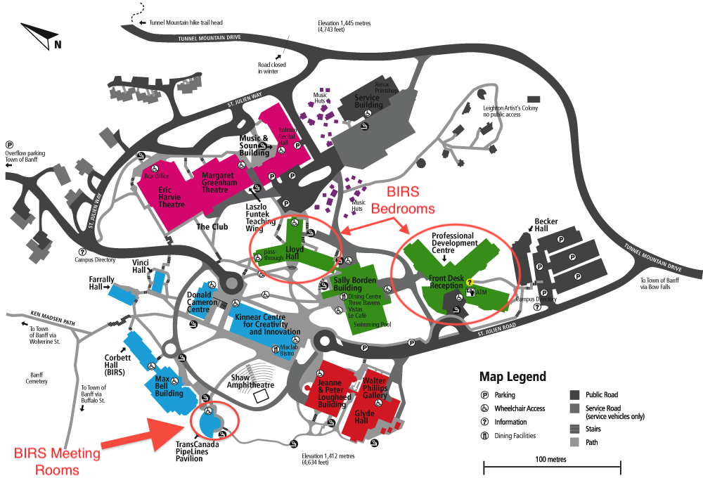 Map of The Banff Centre campus